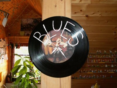 Blues - retro hodiny